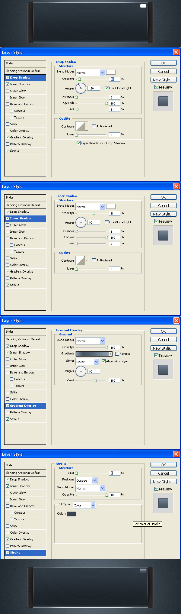 如何在PS中设计一个时髦的播放器界面