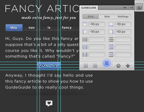 PS 参考线插件GuideGuide下载及使用说明