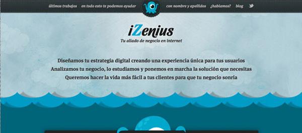 iZenius Web Design Idea
