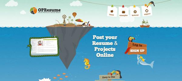 OPResume web design