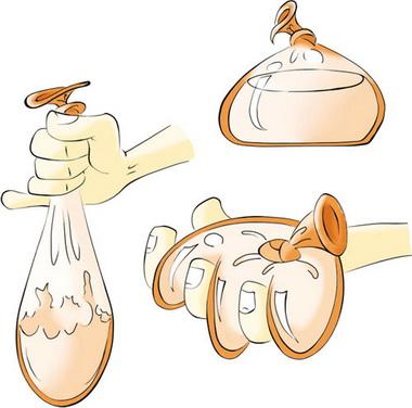 挤压装满水的气球后形变,这能展示其具有较强的弹性