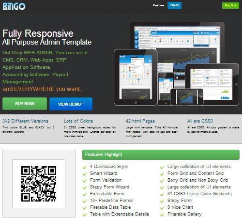 55个超赞的收费响应式网站后台管理模板