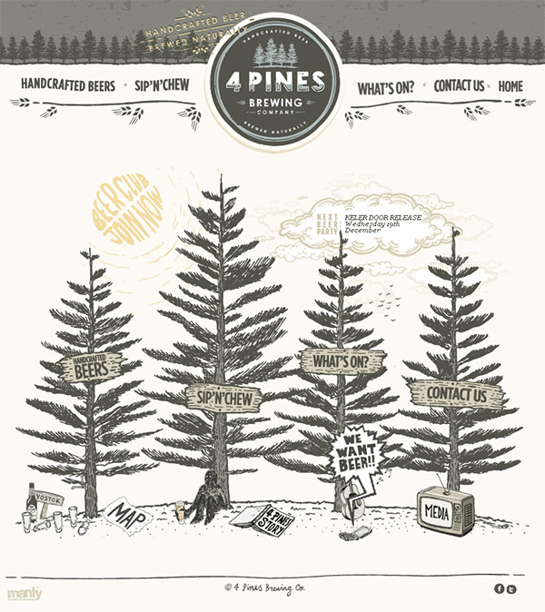 4 Pines Beer in 70 Best Creative Websites of 2012