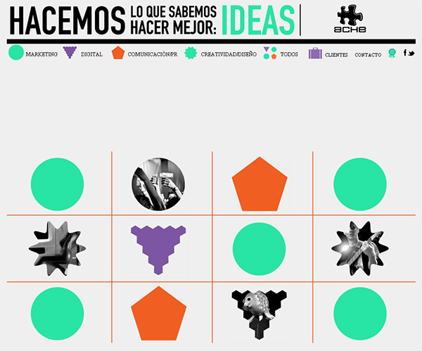 ACHE in 70 Best Creative Websites of 2012