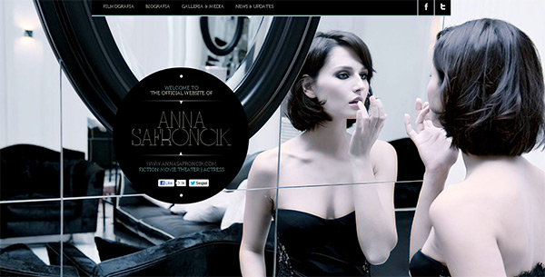 Anna Safroncik in 70 Best Creative Websites of 2012