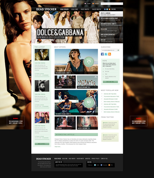 Fashion Free PSD Website Template