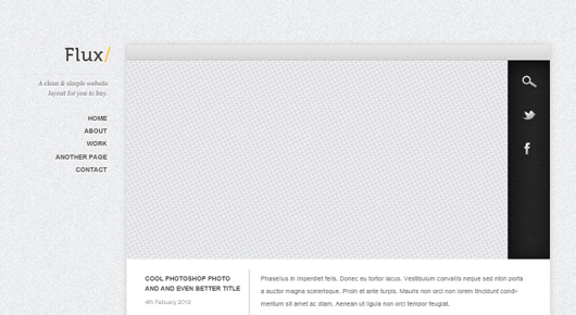 Flux - Minimal Blog Design PSD Template