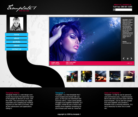 Free Web Template PSD