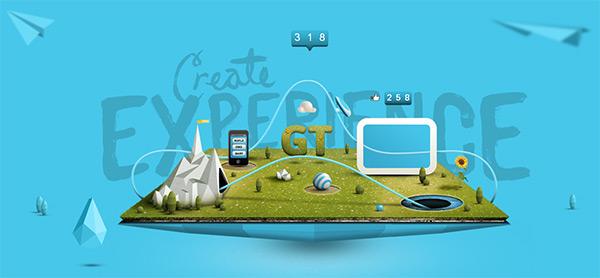 GoodTwin in Blue Color in Web Design