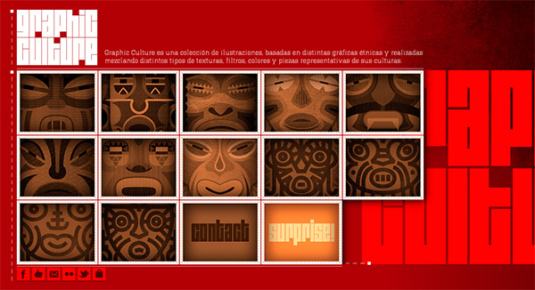 Graphic Culture in 70 Best Creative Websites of 2012