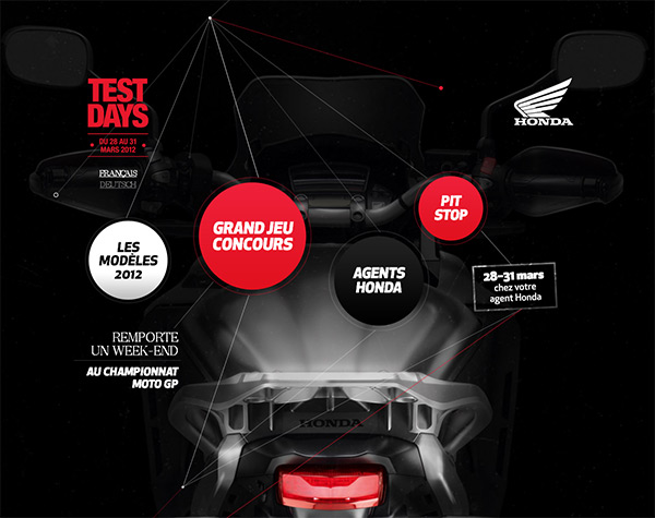 Honda Test Days in Creative Navigation In Web Design