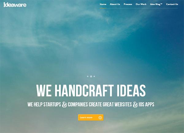 Ideaware in Blue Color in Web Design