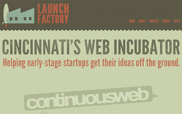 Launch Factory in 70 Best Creative Websites of 2012