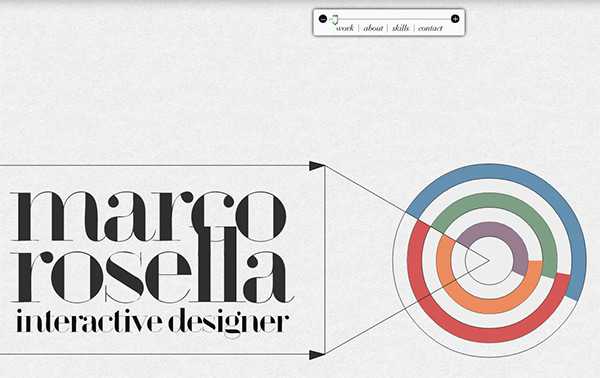 Marco Rosella in 70 Best Creative Websites of 2012