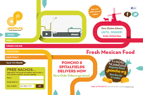 Poncho 8 in Creative Navigation In Web Design