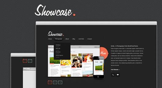 Showcase - A Free Website PSD Template
