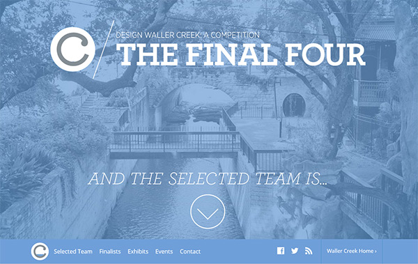 The Waller Creek in Blue Color in Web Design