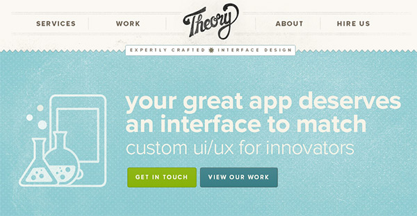 Theory in Blue Color in Web Design