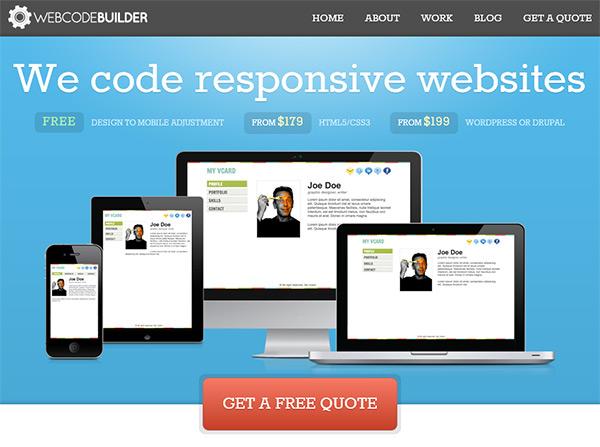 Web Code Builder in Blue Color in Web Design
