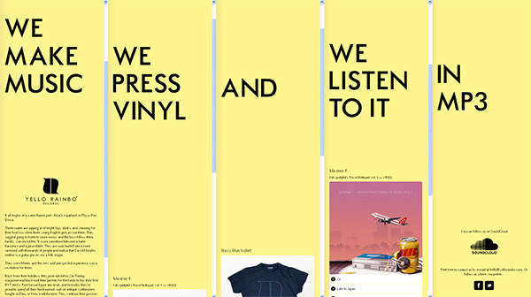 Yello Rainbo Records 2012 in 70 Best Creative Websites of 2012