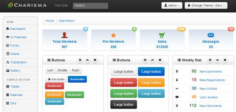 12套超酷的后台管理员界面网站模板