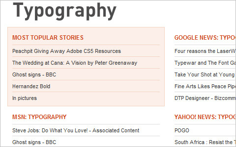 Useful Typography Resources - Alltop - Top Typography News