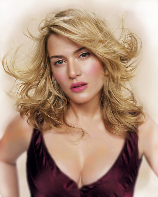 Kate winslet digital art painting celebrity
