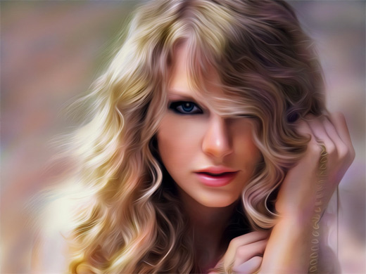 Taylor swift digital art painting celebrity