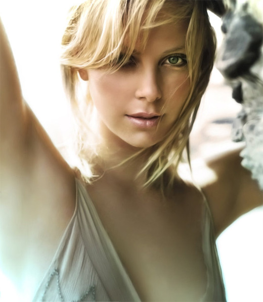 Charlize theron digital art painting celebrity