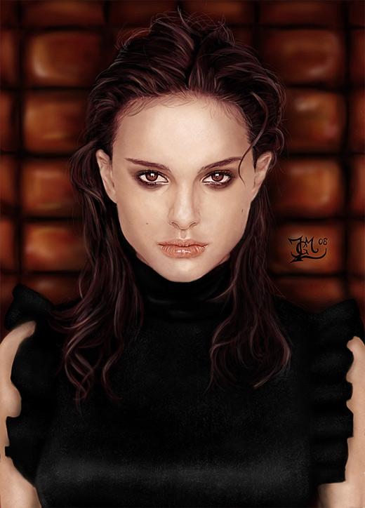 Natalie portman digital art painting celebrity