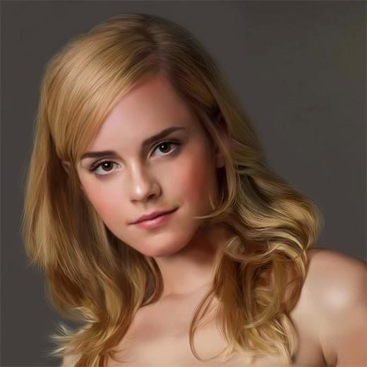 Emma watson digital art painting celebrity