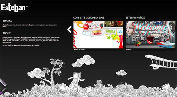 60个手绘风格网页设计