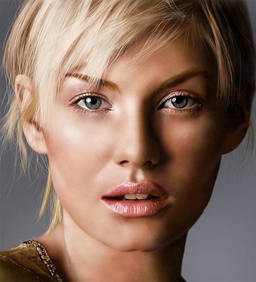 Elisha cuthbert digital art painting celebrity