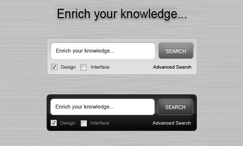 Enrich your knowledge search box