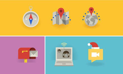 Flat Icons and Web Elements for UI Design-32