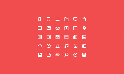Flat Icons and Web Elements for UI Design-4