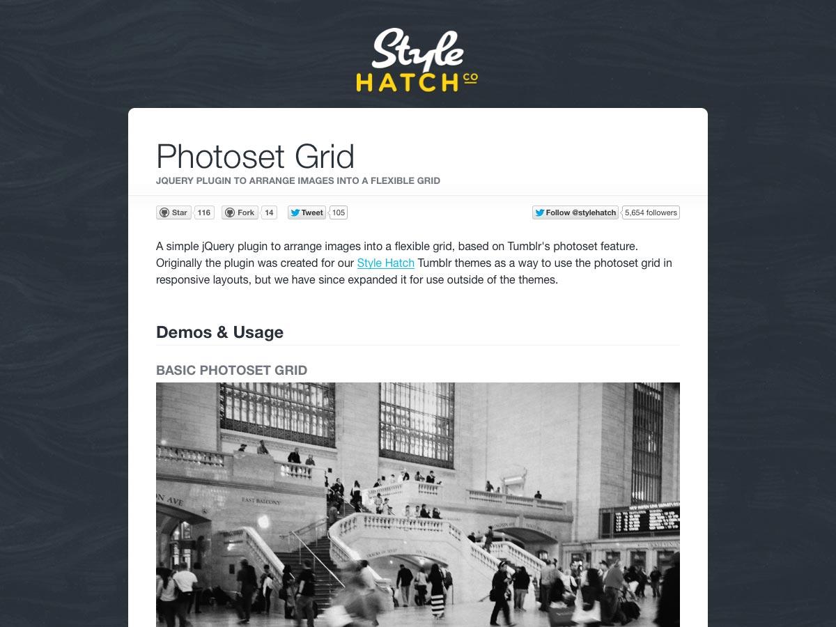 photoset grid