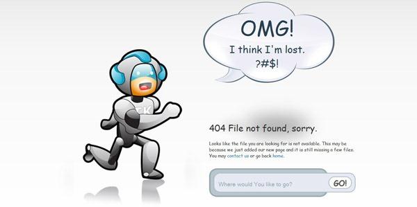 那些让人惊叹的的国外创意404错误页面设计