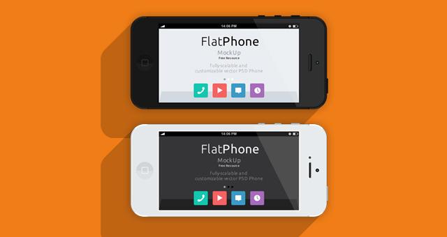 超赞!三套iPhone 5的扁平化模型PSD下载
