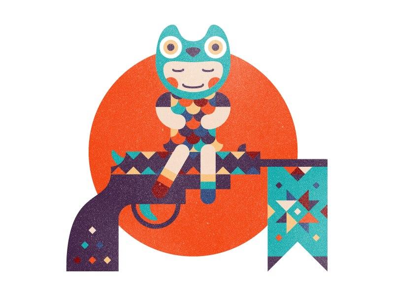 设计师推荐:擅长五颜六色图形插画的妹子lazutina
