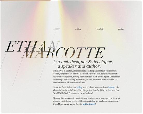 20个创意十足的倾斜式网站设计