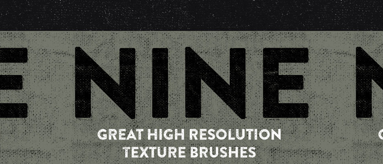 High Resolution Texture Brushes - 9 Brushes