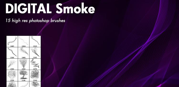 Digital Smoke Brushes - 15 Brushes