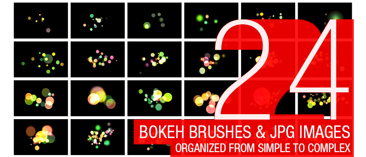 Abstract Bokeh Brushes - 24 Brushes