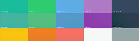 扁平化设计配色参考网站:FlatUIColors - 优设-UISDC