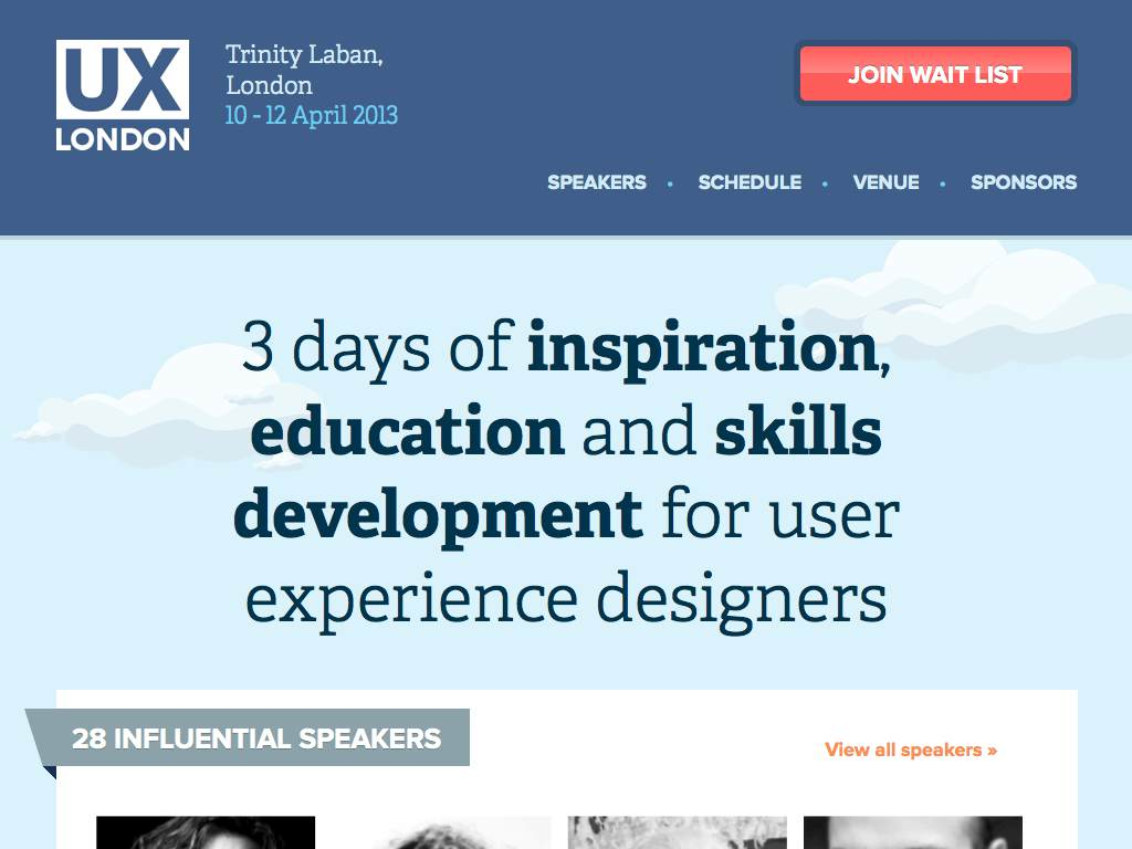 UX London 2013 Responsive Website on a Tablet