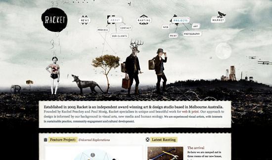 illustratedsites17 Amazing Usage of Vector Art in Web Designs