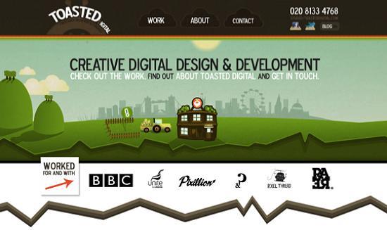 illustratedsites24 Amazing Usage of Vector Art in Web Designs