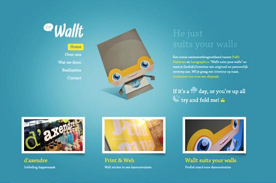 illustratedsites25 Amazing Usage of Vector Art in Web Designs