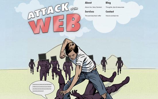illustratedsites34 Amazing Usage of Vector Art in Web Designs